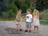 Kids at the cabin