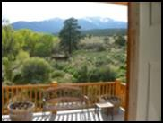 West Deck View of Tushar Mountain Range of Bullion Creekside Retreat near Marysvale Utah