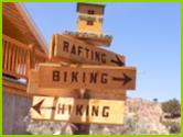 Rafting, Biking, Hking Signs
